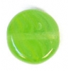 Glass Pressed Beads 8mm Flat Round Green/Yellow